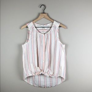 NWT Lucky Brand Sleeveless Striped Top (Large)